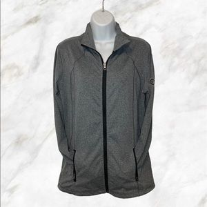 REEBOK Charcoal Zip Up Sweater NHL Collab Mtl CH